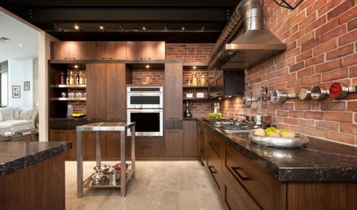 5 інтер'єрних стилів для кухні із застосуванням штучного каменю