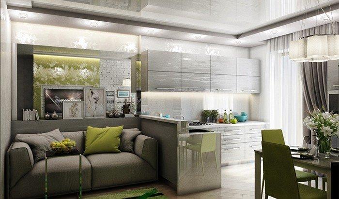 Як зонувати кухню-вітальню?