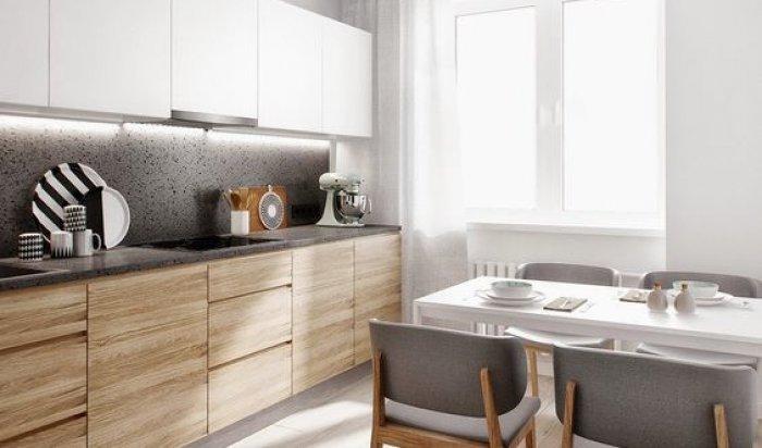 Колір кухонної стільниці для меблів з дерев'яними фасадами