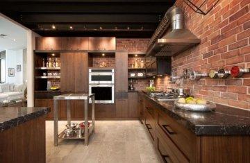 5 интерьерных стилей для кухни с применением искусственного камня