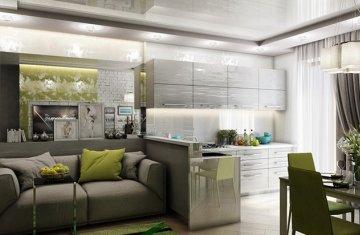 Как зонировать кухню-гостиную?