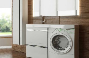 Стільниця під пральну машину з мийкою для ванної кімнати