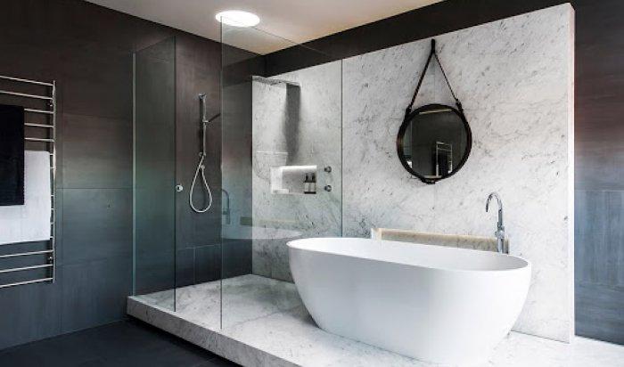 Кварцовий камінь для інтер'єру ванної кімнати